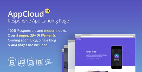 AppCloud Responsive App Landing Page            TFx Rodney Esmond