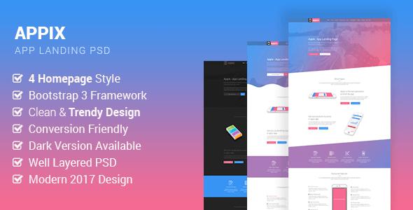 Appix - Creative App Landing Page PSD Template            TFx Tel Adi