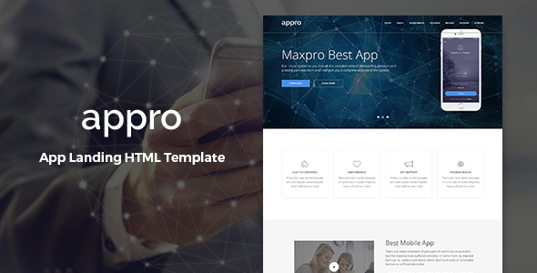 Appro – Multipurpose Landing Page Template            TFx Simon Kaede