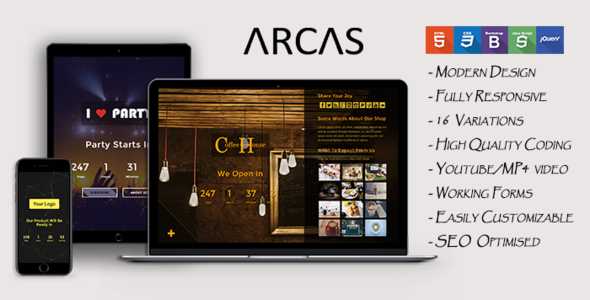 Arcas - Coming Soon Template            TFx Merlin Domenic