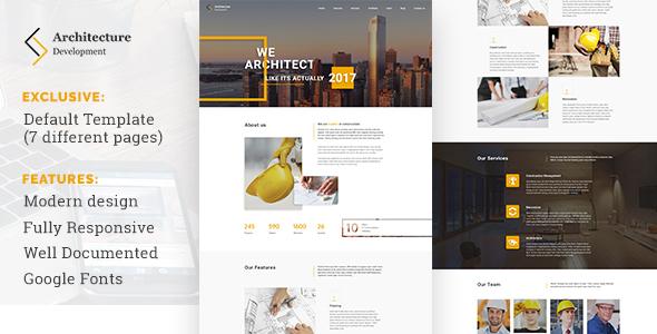 Architecture Development - Modern Constuction WordPress Theme            TFx Jordon Wolfe