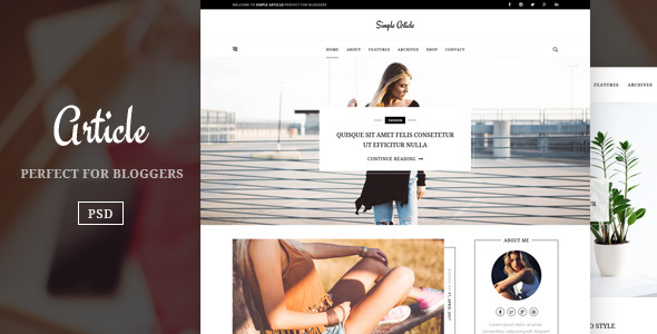 Article – Simple And Minimal Blog Template            TFx Colin Alphonso