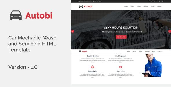 Autobi - Car Mechanic, Wash and Servicing HTML Template TFx Kody Jermaine
