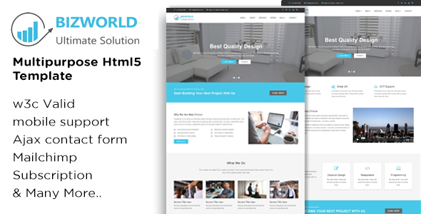 BIZWORLD - Multipurpose HTML5 Template            TFx Nurul Jimmy