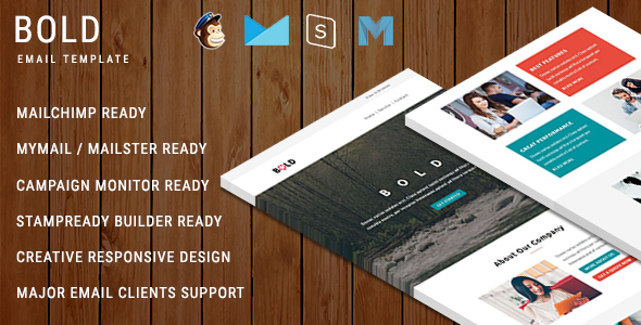 BOLD - Multipurpose Responsive Email Template With Online StampReady Builder Access            TFx Samuel Dell