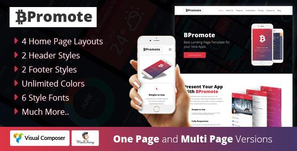 BPromote – Responsive App WordPresss Theme            TFx Nikolas Takehiko