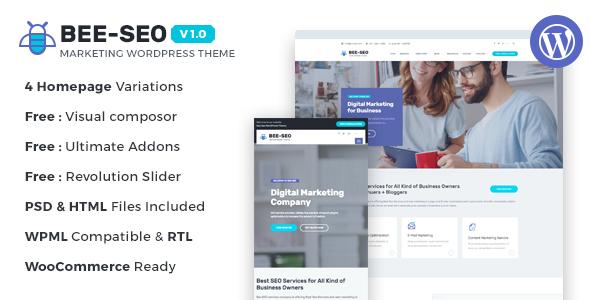 Bee SEO - Marketing WordPress Theme TFx WordPress Kingsley Kaleb