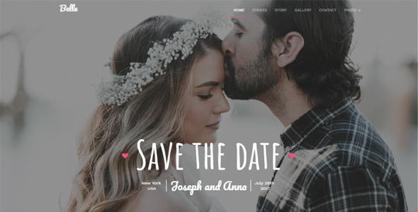 Belle - Responsive Wedding Template TFx SiteTemplates Diggory Crispian