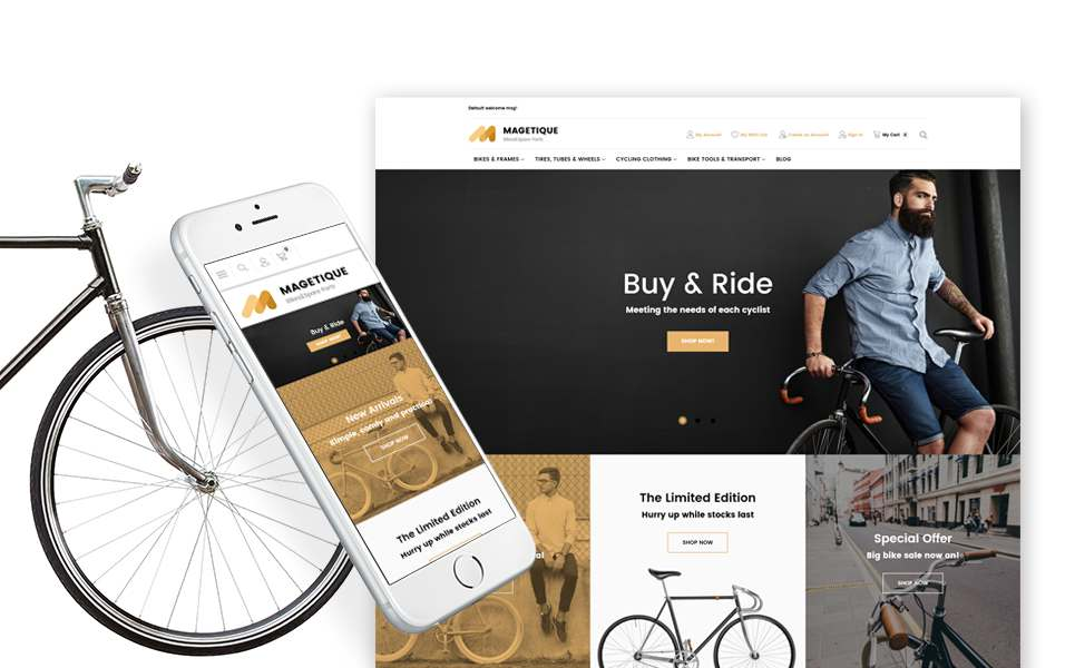 Bikes and Bike Equipment Magento Theme TMT Boyd Sebastian