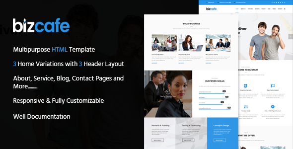 Bizcafe Corporate HTML Template TFx SiteTemplates Kyo Isaiah