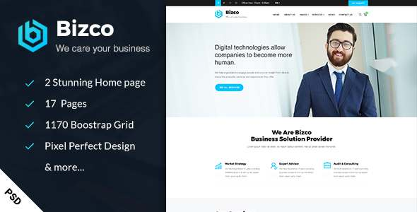 Bizco – Business & Consulting PSD Template            TFx Maria Talon