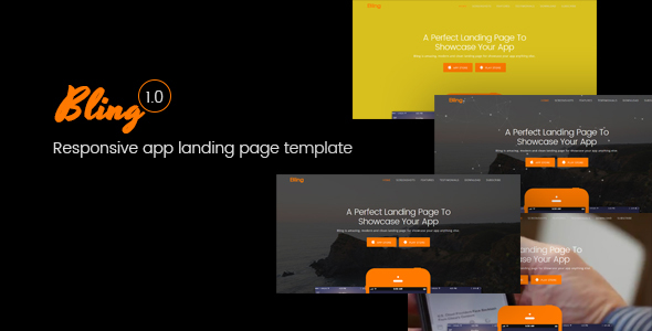 Bling Responsive App Landing Page Template            TFx Raine Carlyle
