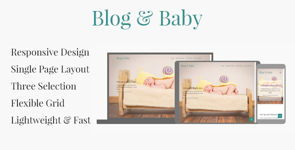 Blog & Baby - Responsive HTML Template For Baby Blogs            TFx Montague Mickey