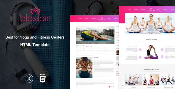 Blossom a Health and Meditation Yoga Template TFx Raeburn Harta