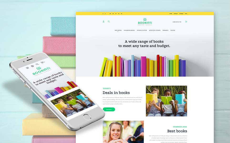 Bookinti - Book Store PrestaShop Theme TMT Wayan Grigor