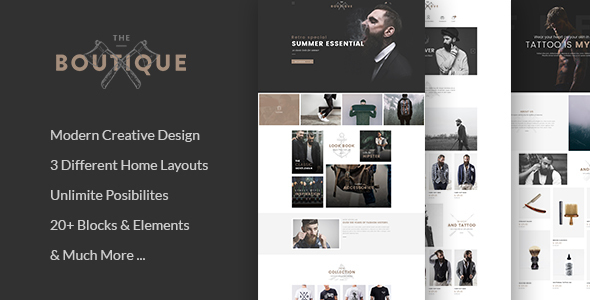 Boutique – Multipurpose eCommerce Template TFx Farrell Arnie