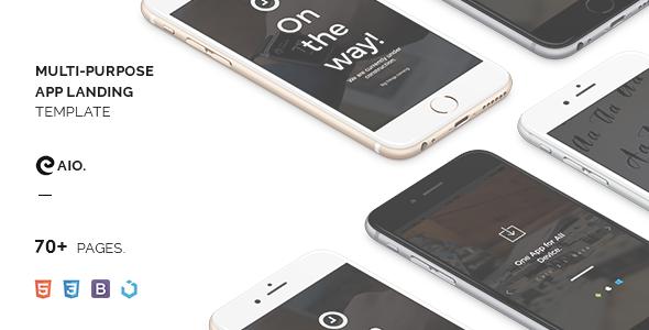 CAIO - Multipurpose App Landing Template TFx Jeffry Avetis
