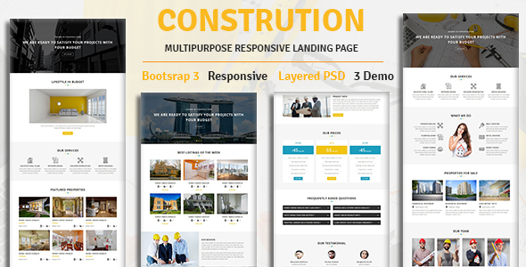 CONSTRUCTION – Multipurpose Responsive HTML Landing Page            TFx Cody Stanislas