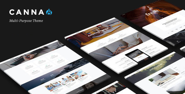 Canna - Creative Elegant Drupal 8 Theme            TFx Jeffery Caden