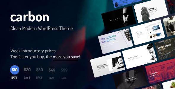 Carbon - Clean Minimal Multipurpose WordPress Theme            TFx Ewart Percival
