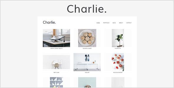 Charlie - Light Minimal Creative Portfolio WordPress Theme            TFx Frank Zackery