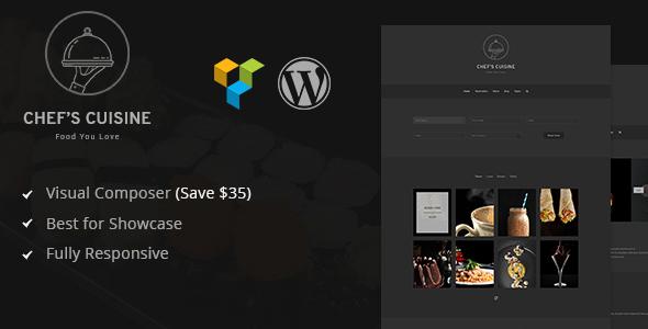 Chef's Cuisine  - Minimalist Restaurant Reservation WordPress Theme            TFx Angel Alvin