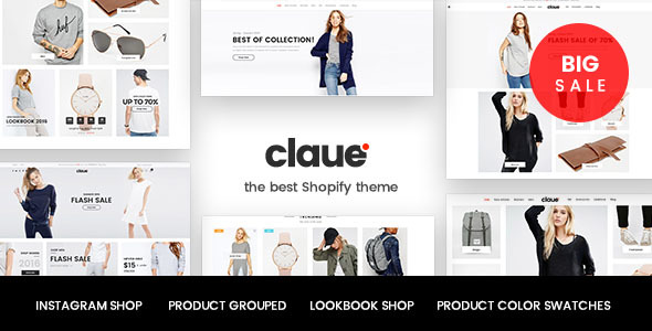 Claue – Responsive, Minimalist Boutique Shopify Theme            TFx Kynaston Thaddeus