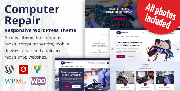 ComRepair - Computer Repair Services WordPress Theme TFx Rolph Ansel