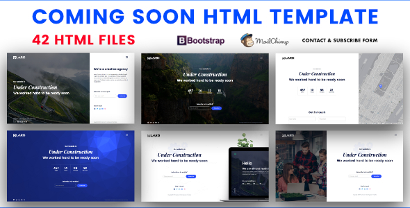 Coming Soon HTML Template            TFx Riley Hamilcar
