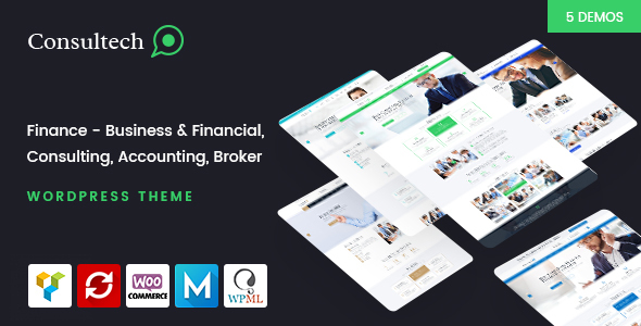 Consultech - Finance & Consulting Business WordPress Theme            TFx Homer Simon