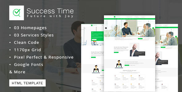 Consulting, Business, Finance And Accounting Template - Success Time TFx Itsuki Quanah