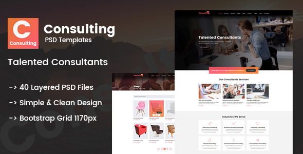 Consulting - Creative Multi-Purpose PSD Template TFx Yuudai Tucker