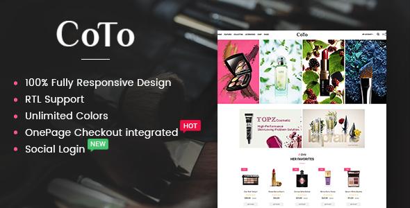 Coto – Beauty & Spa Store OpenCart 2.3 Theme            TFx Chase Dalton
