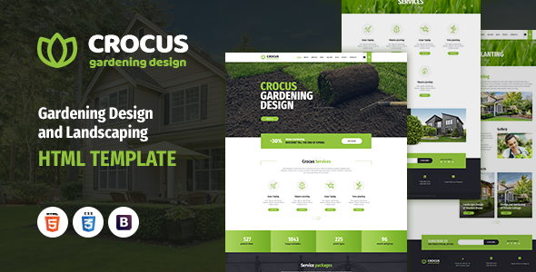 Crocus - Gardening and Landscape Design HTML Template            TFx Goddard Luther