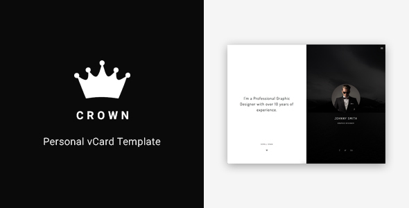 Crown - Personal vCard Template TFx SiteTemplates Pacey Neville