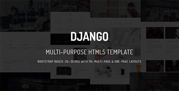 DJANGO - Multi-Purpose Parallax  Multi-Page & One-Page            TFx Quinlan Albin