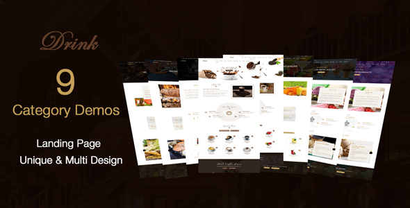 DRINK - Coffee - bar - Cafe & Restaurant  html template            TFx Willard Brendon