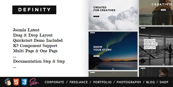 Definity - Multipurpose One/Multi Page Joomla Template            TFx Rodolph Issac
