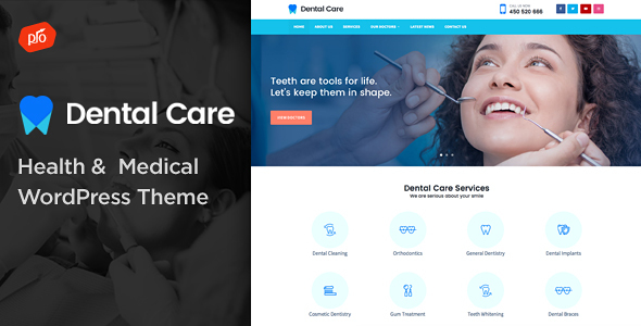 Dental Care Pro - Health & Medical Theme            TFx Coleman Rube