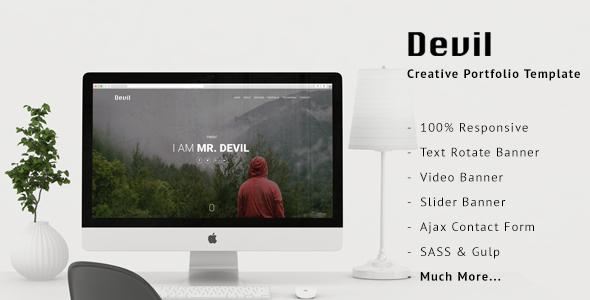 Devil - Creative Portfolio Template TFx SiteTemplates Abdullah Angus