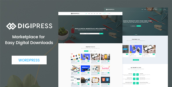 Digipress – Marketplace for Easy Digital Downloads WordPress Theme TFx Wil Brady