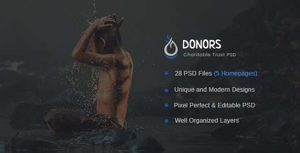 Donors - Multipurpose Non-profit PSD Template            TFx Tristan Pacey