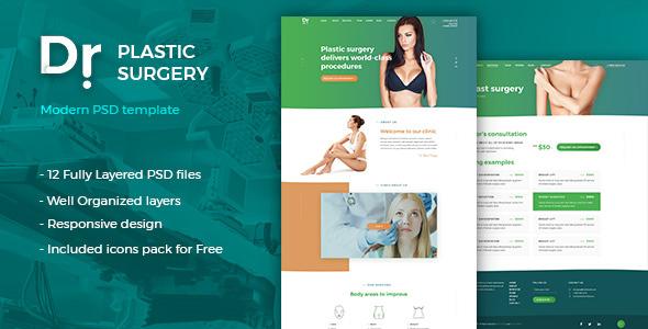 Dr. Plastic Surgery - PSD Template TFx PSDTemplates Aurangzeb Todd