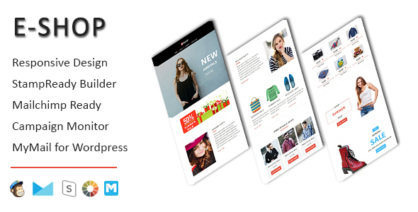 E-Shop - Ecommerce Responsive Email Template with Stampready Builder Access TFx Tiger Ollie