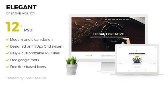 ELEGANT | Creative Agency PSD Template            TFx Rickey Ujarak
