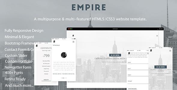 EMPIRE- A Multipurpose & Multi-featured HTML5/CSS3 Website Template            TFx Corbin Balfour