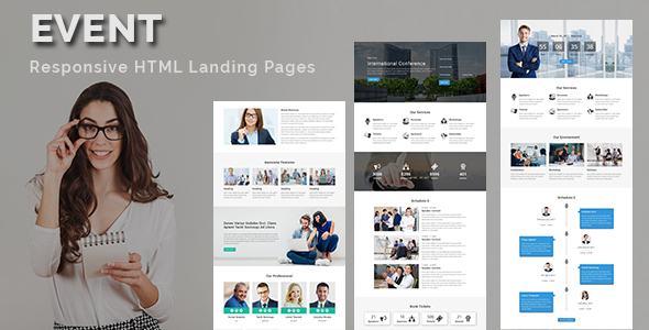 EVENT - Multipurpose Responsive HTML Landing Page            TFx Jeremy Myron
