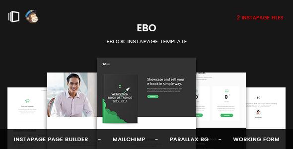 Ebo - Ebook Instapage Template TFx Pancras Murray