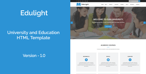 EduLight - University and Education HTML5 Template            TFx Leopold Washington