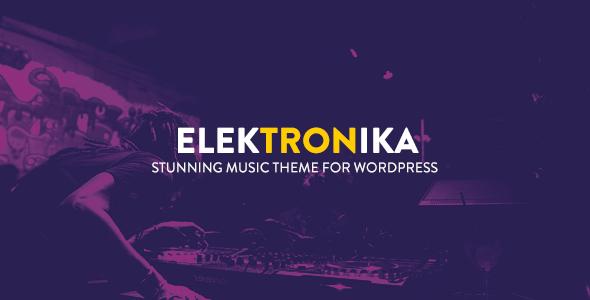 Elektronika - Music / Artist / Radio WordPress theme TFx Cnut Chuck